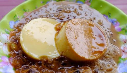 caramel flan with coconut milk