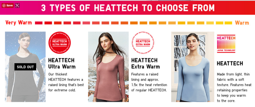 Uniqlo heat tech