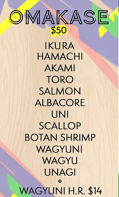 Sushi by Bou menu