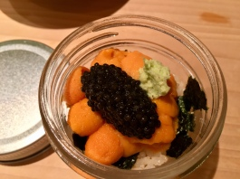 sea urchin and caviar pot