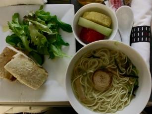 Ramen and pork katsu sandwhich
